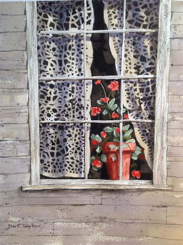 """Still Life in Window"" original fine art by Mark Tompkins"