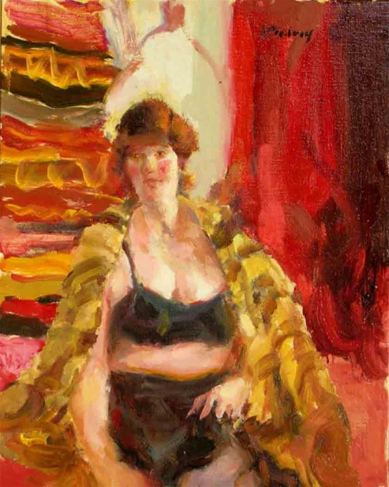 """Model With Shawl"" original fine art by alicia tredway"