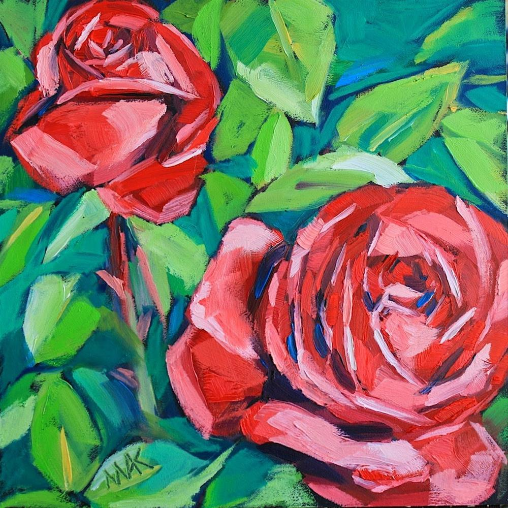 """Red Roses"" original fine art by Mary Anne Cary"