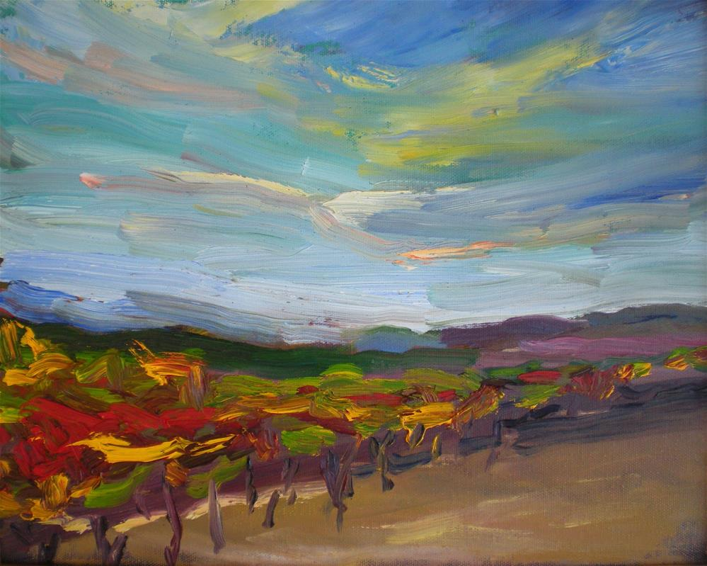 """Evening Vineyard"" original fine art by Loralee Chapleau"