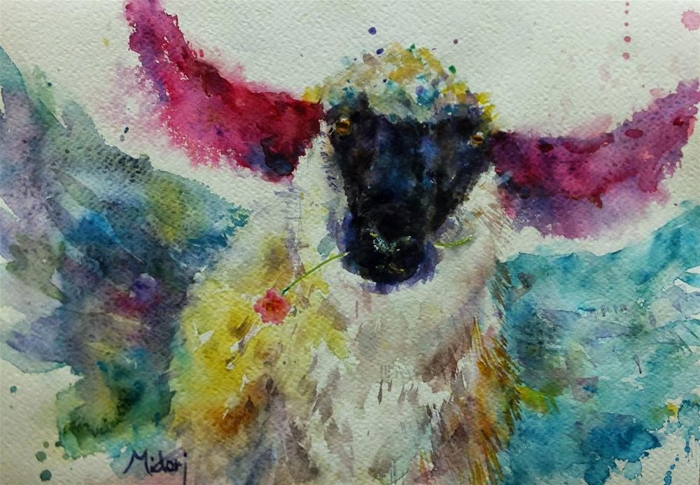 """""""Year of sheep"""" original fine art by Midori Yoshino"""