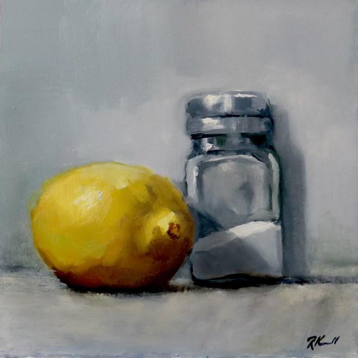 """""""Lemon and Salt"""" original fine art by Bob Kimball"""