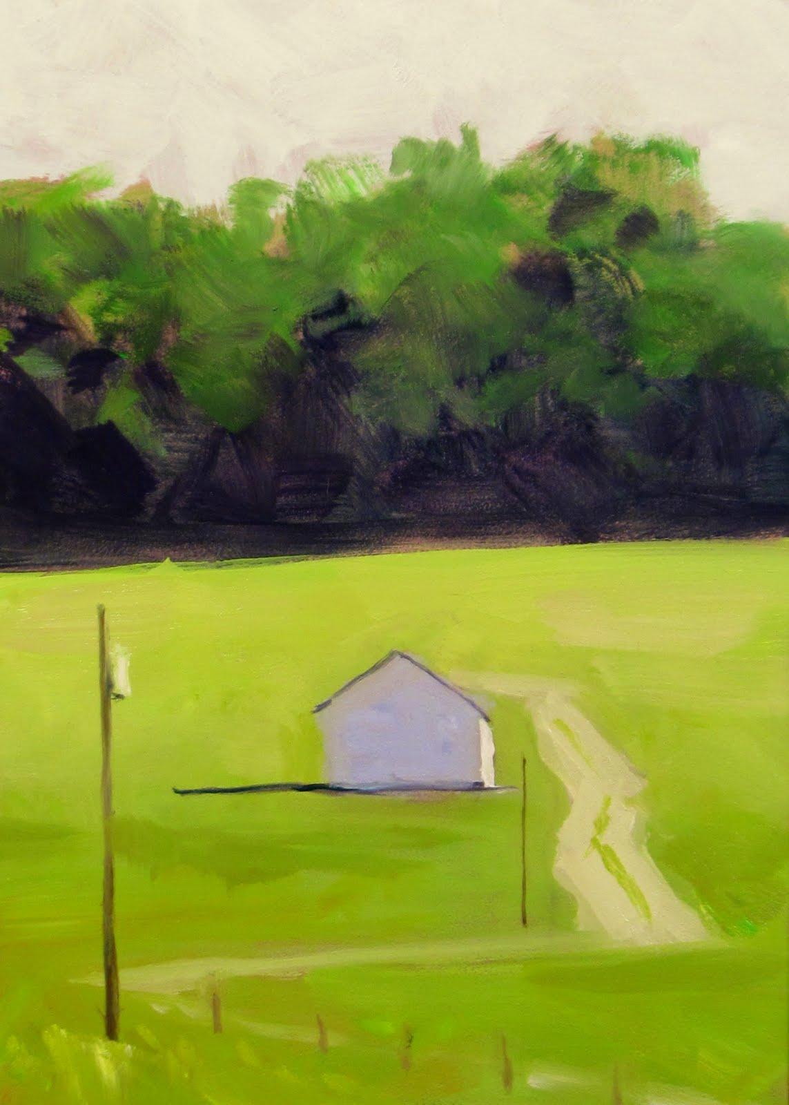 """ART 4 DIAPERS (DAILY DIAPER #163) The Lonely Barn"" original fine art by Brian Burt"