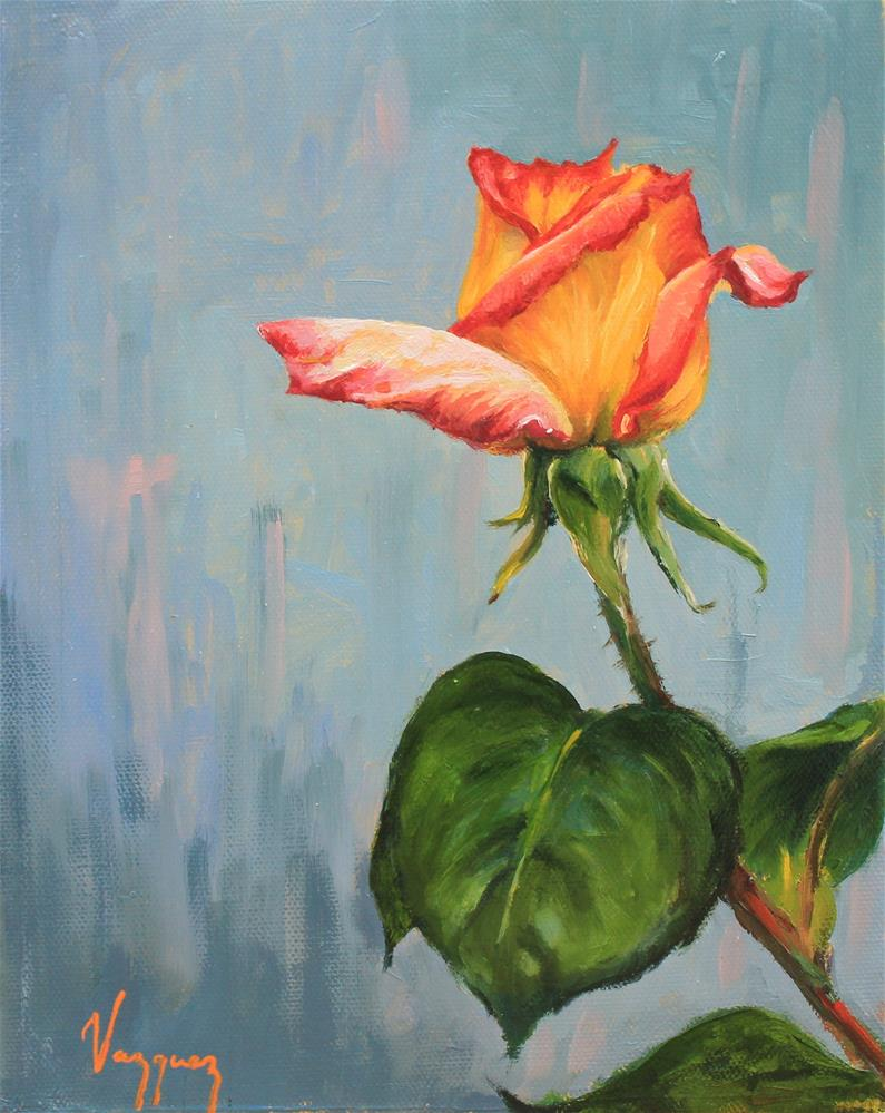 """""""Rose"""" original fine art by Marco Vazquez"""