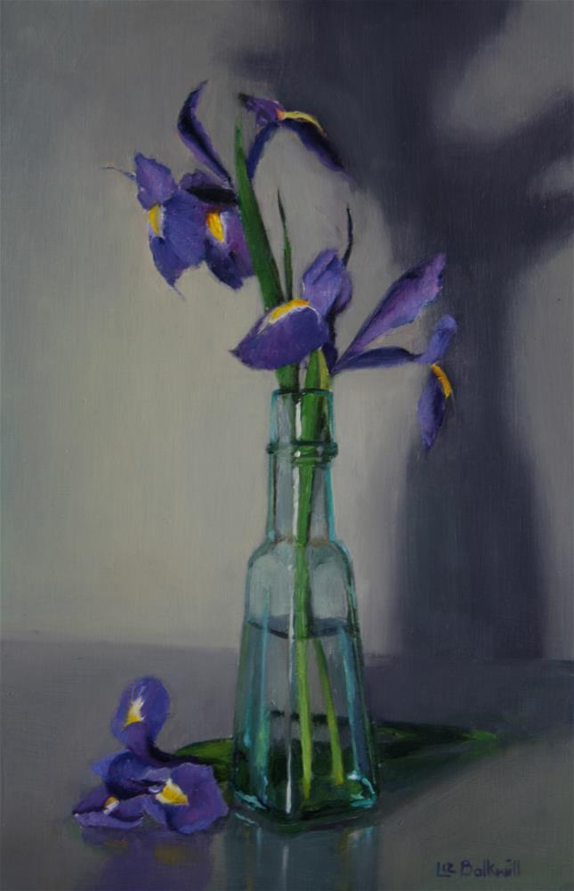 """Iris"" original fine art by Liz Balkwill"