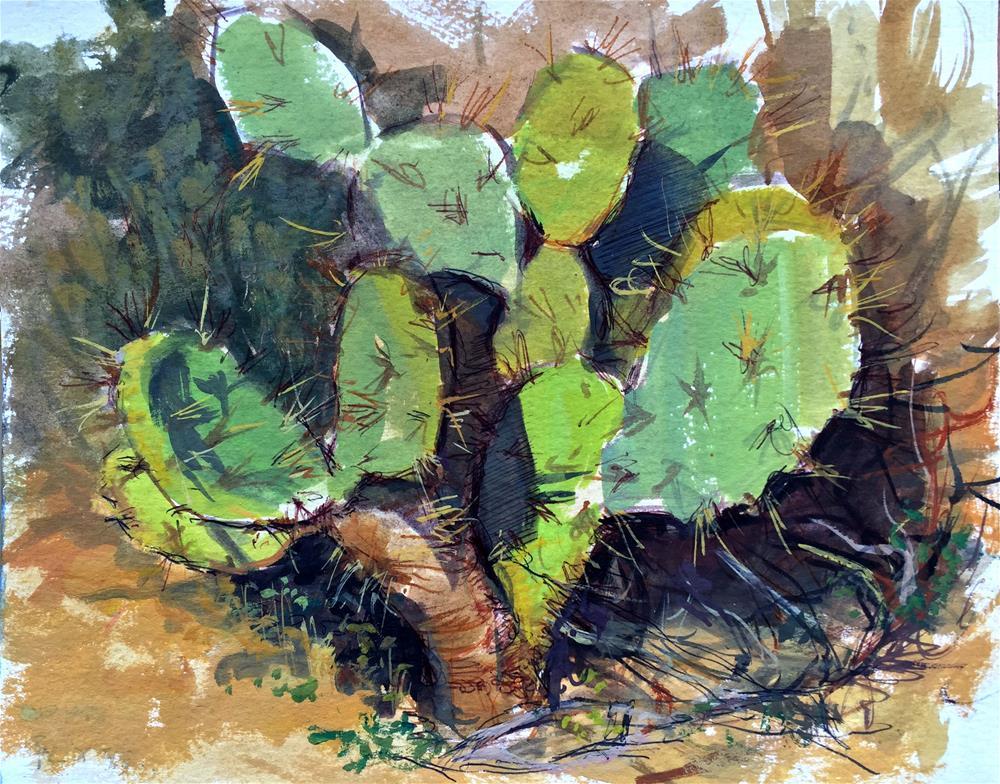 """""""Cactus"""" original fine art by Adebanji Alade"""