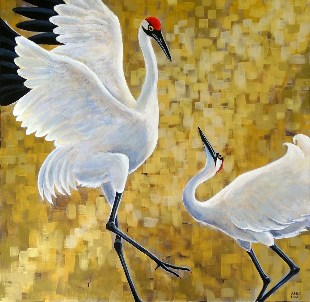"""Shall We Dance?"" original fine art by Ande Hall"