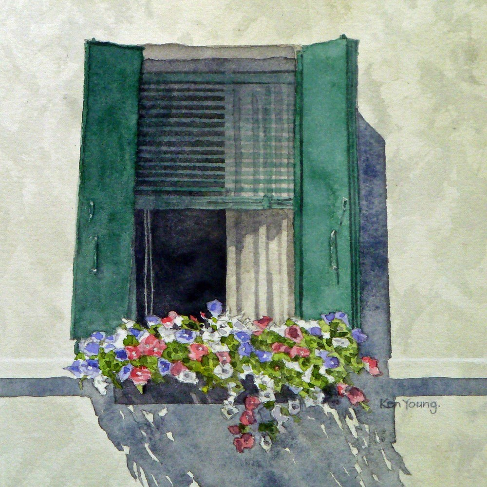 """Venetian Window"" original fine art by Ken Young"