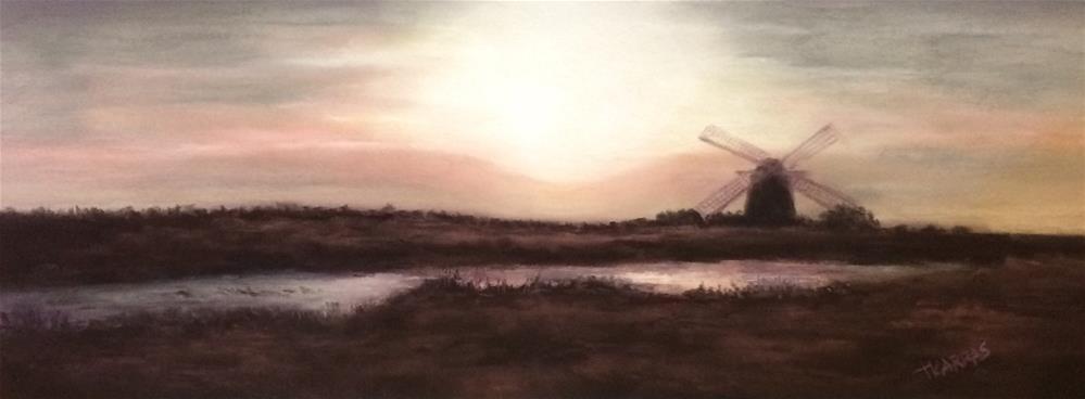 """Fjords at Dawn"" original fine art by Christina Karras"