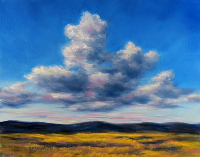 """Sailing Alone"" original fine art by Carol Zirkle"