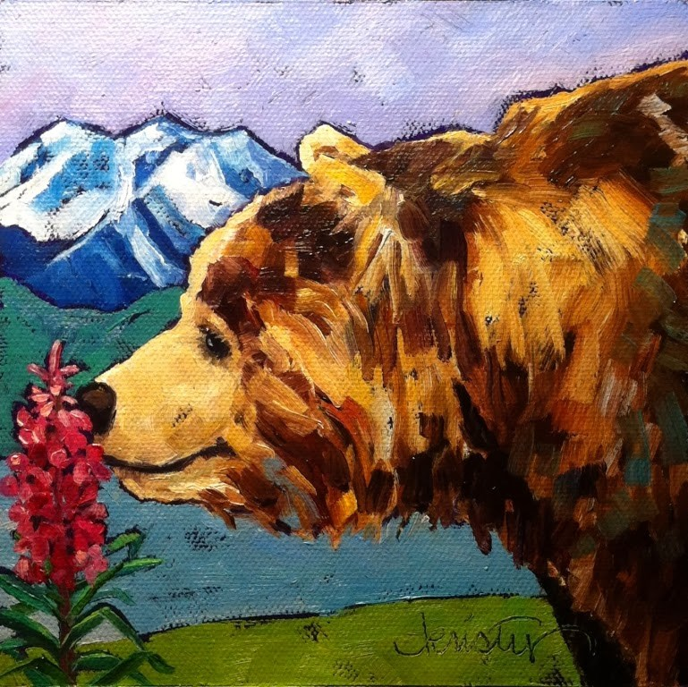 """STOP AND SMELL THE FIREWEED"" original fine art by Kristy Tracy"