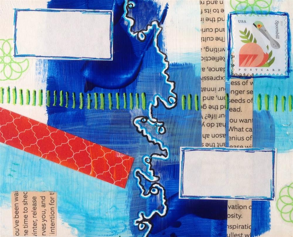 """Postcard 16"" original fine art by Dotty  Seiter"