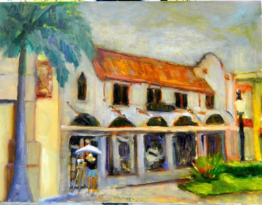 """DeMarcay Hotel"" original fine art by Sharon Yarbrough"