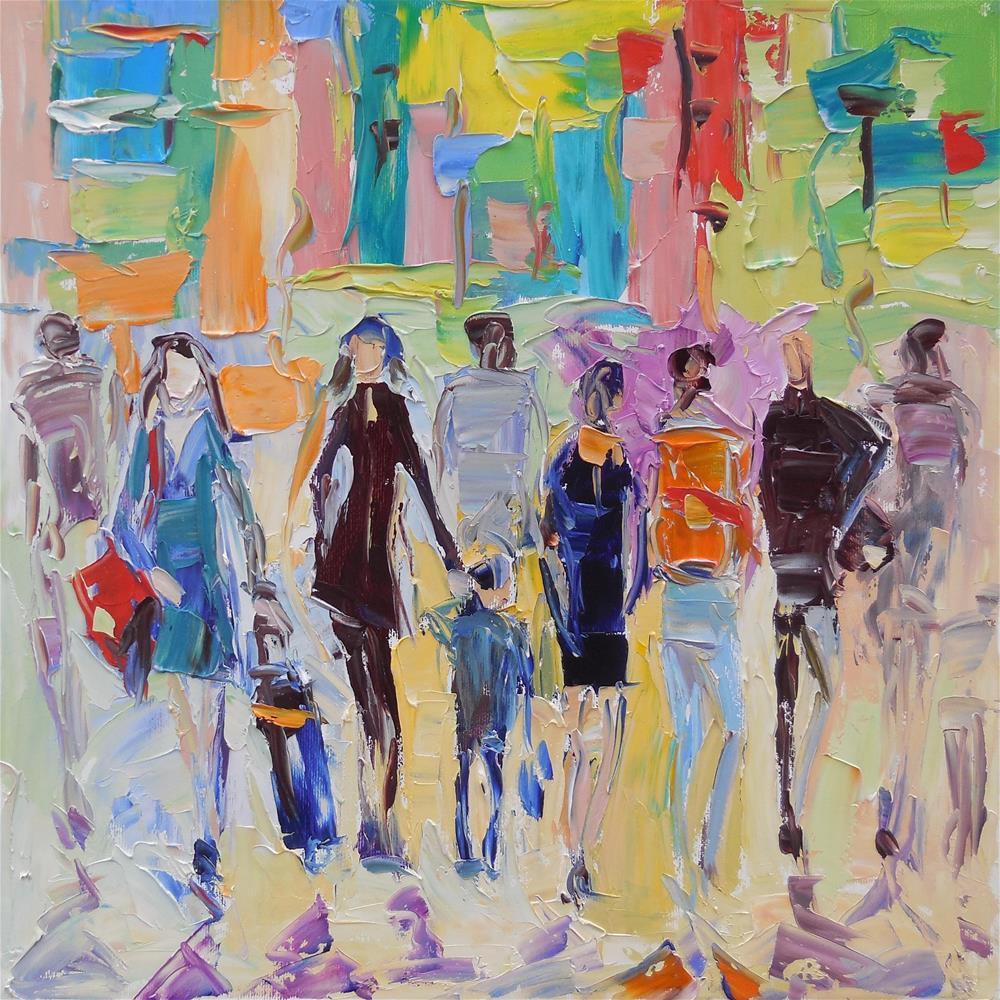 """Urban Sun"" original fine art by Elena Lunetskaya"