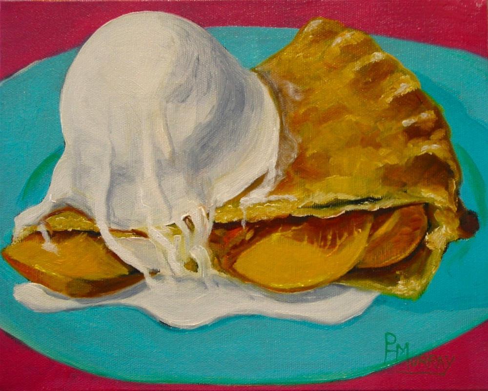 """""""Peachy Pie"""" original fine art by Patricia Murray"""