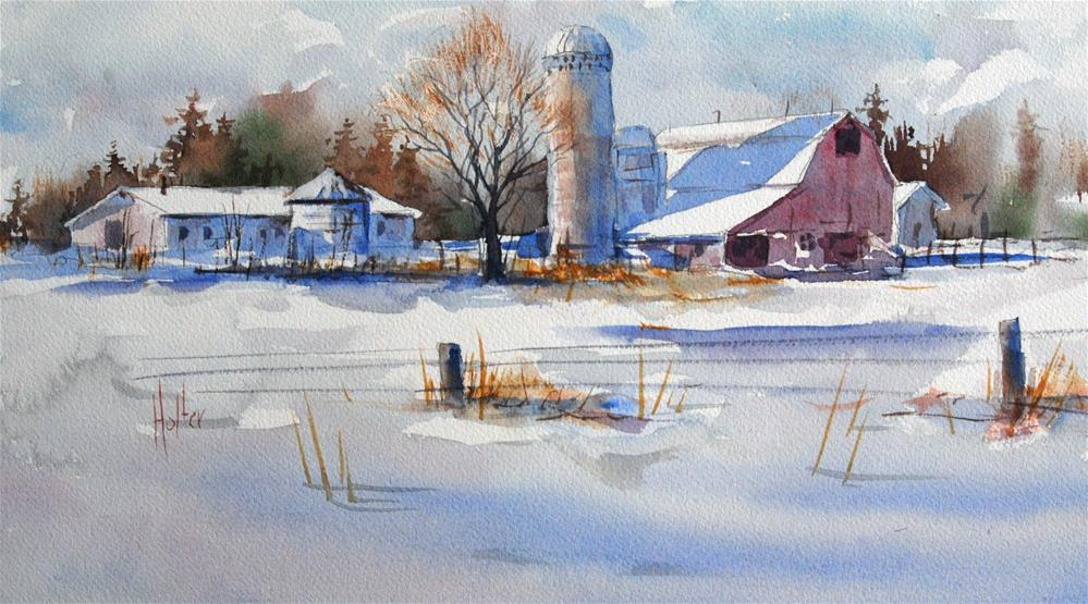"""Slow Down for Winter"" original fine art by Michael Holter NWS"