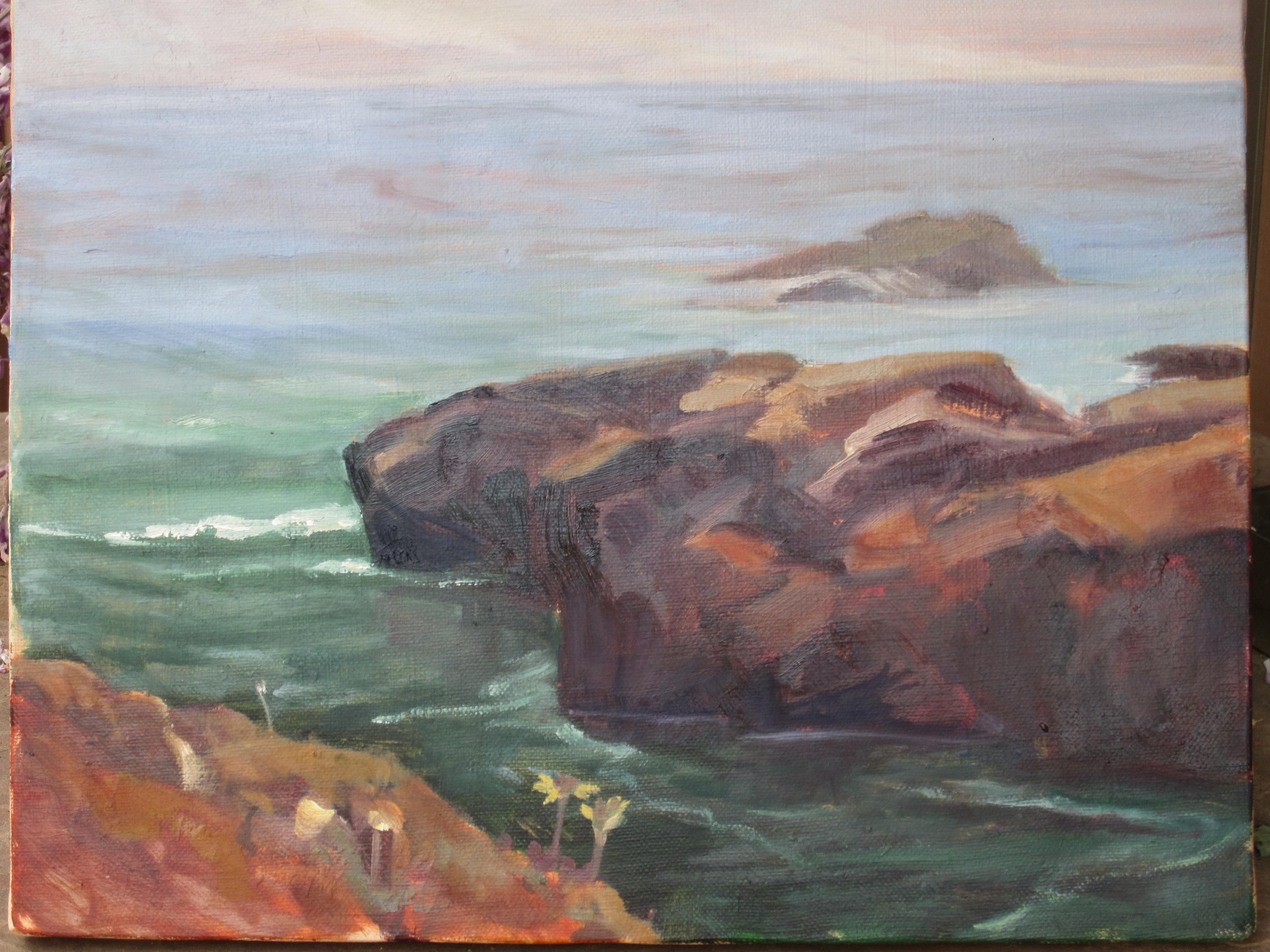 """Tide pool"" original fine art by Leigh Alexandra Sparks"