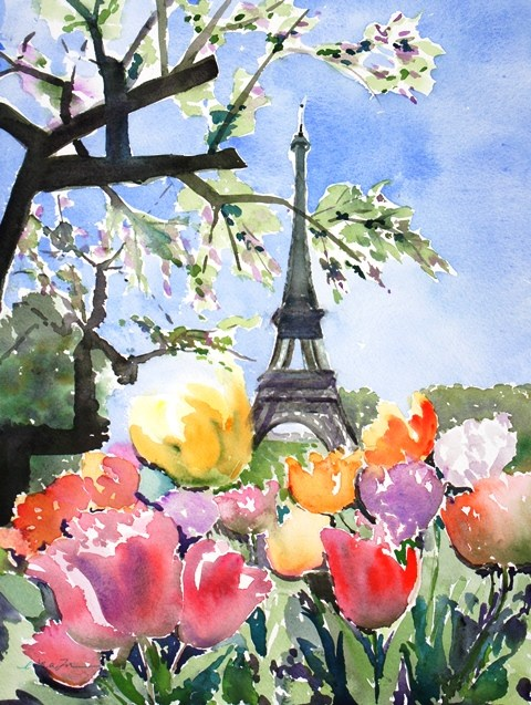 """Spring"" original fine art by Lisa Fu"