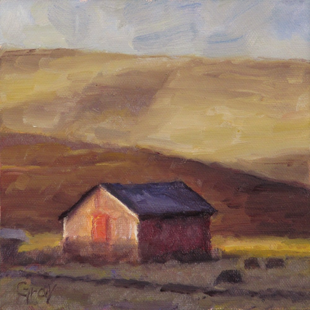 """Last Light in the Palouse"" original fine art by Naomi Gray"