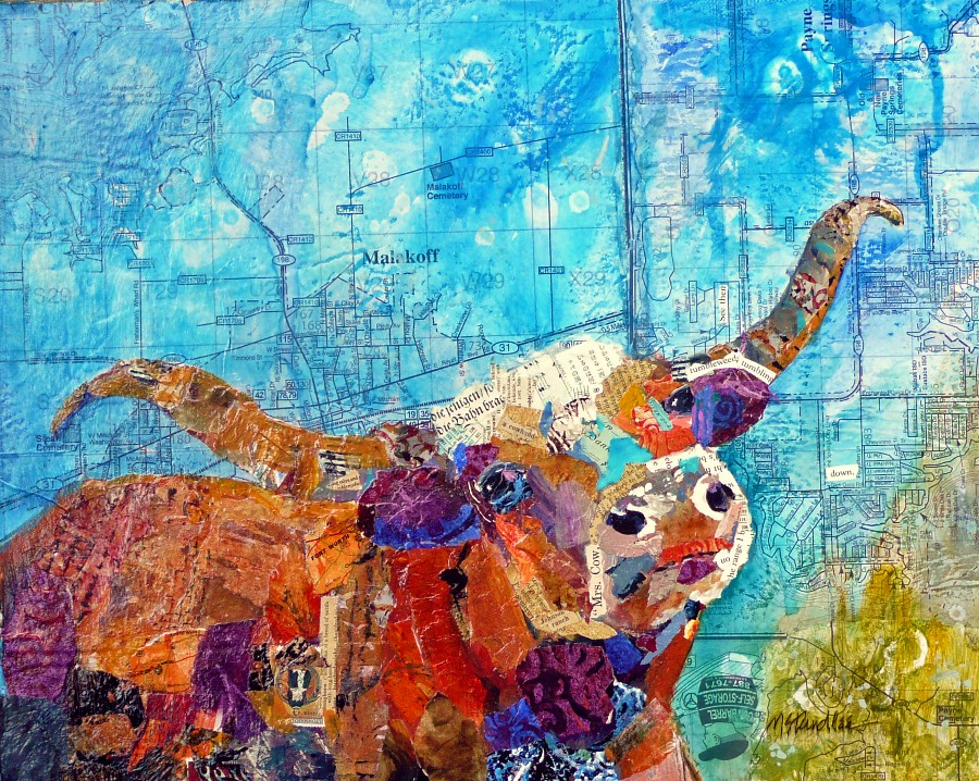 """""""Tumbling Tumbleweeds 11063 SOLD"""" original fine art by Nancy Standlee"""