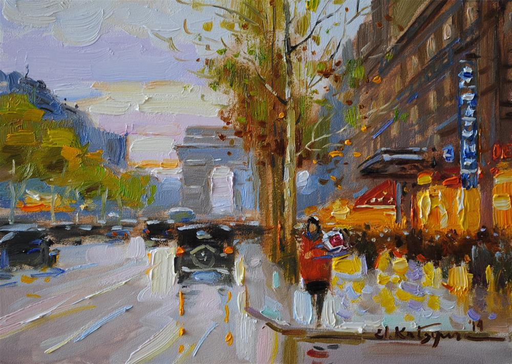 """Evening Promenade"" original fine art by Elena Katsyura"