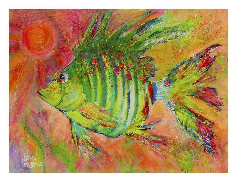 """Green Flash"" original fine art by Leoma Lovegrove"