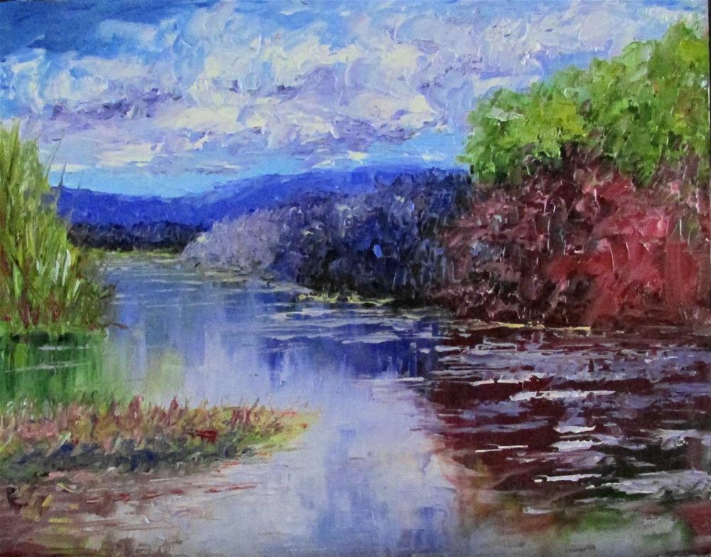 """8 x 10 inch oil Creekside #5"" original fine art by Linda Yurgensen"