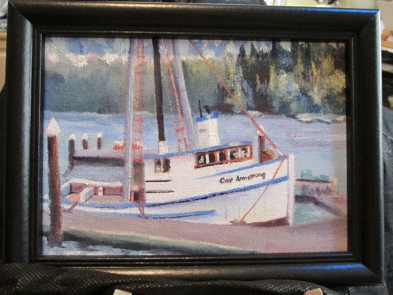 """""""Captain Armstrong"""" original fine art by Norm Rossignol"""
