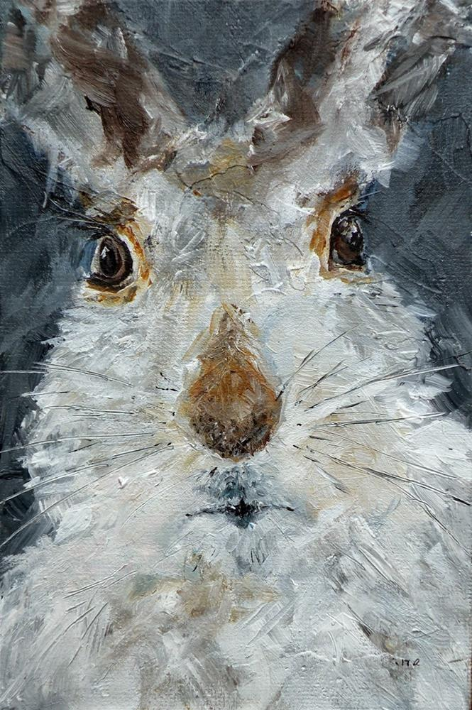"""HARREINGTON B III A BUNNY OF SOME MEANS © SAUNDRA LANE GALLOWAY"" original fine art by Saundra Lane Galloway"