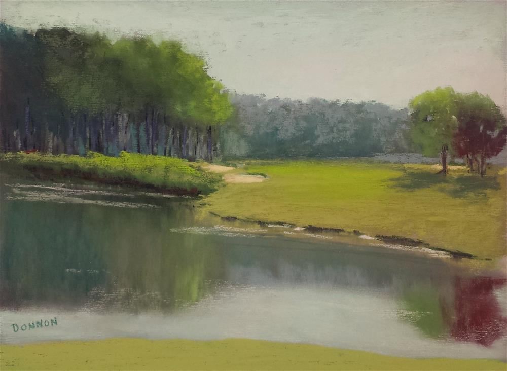 """The Edge of the Pond"" original fine art by Donna Donnon"
