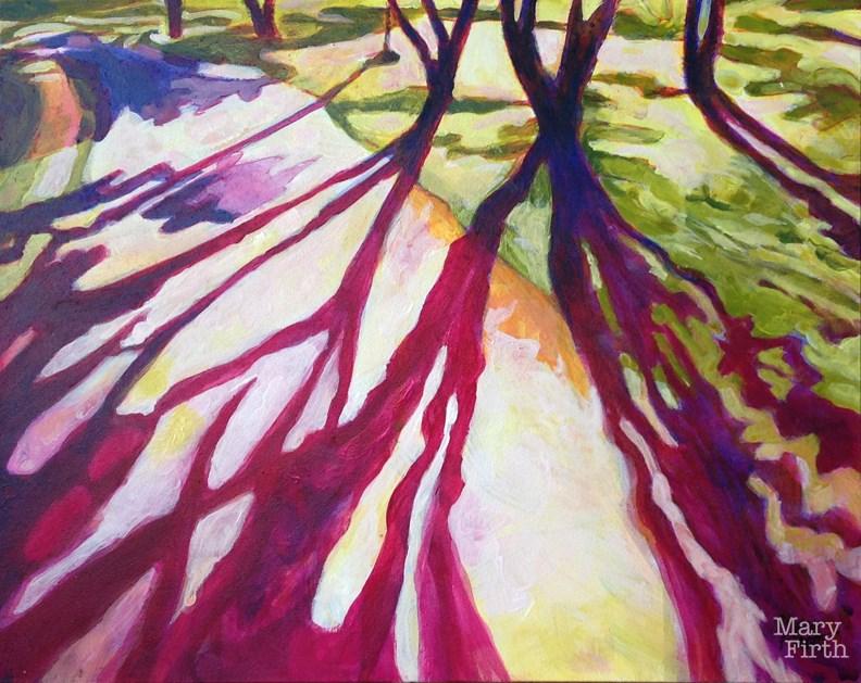 """""""magenta shadows"""" original fine art by Mary Firth"""