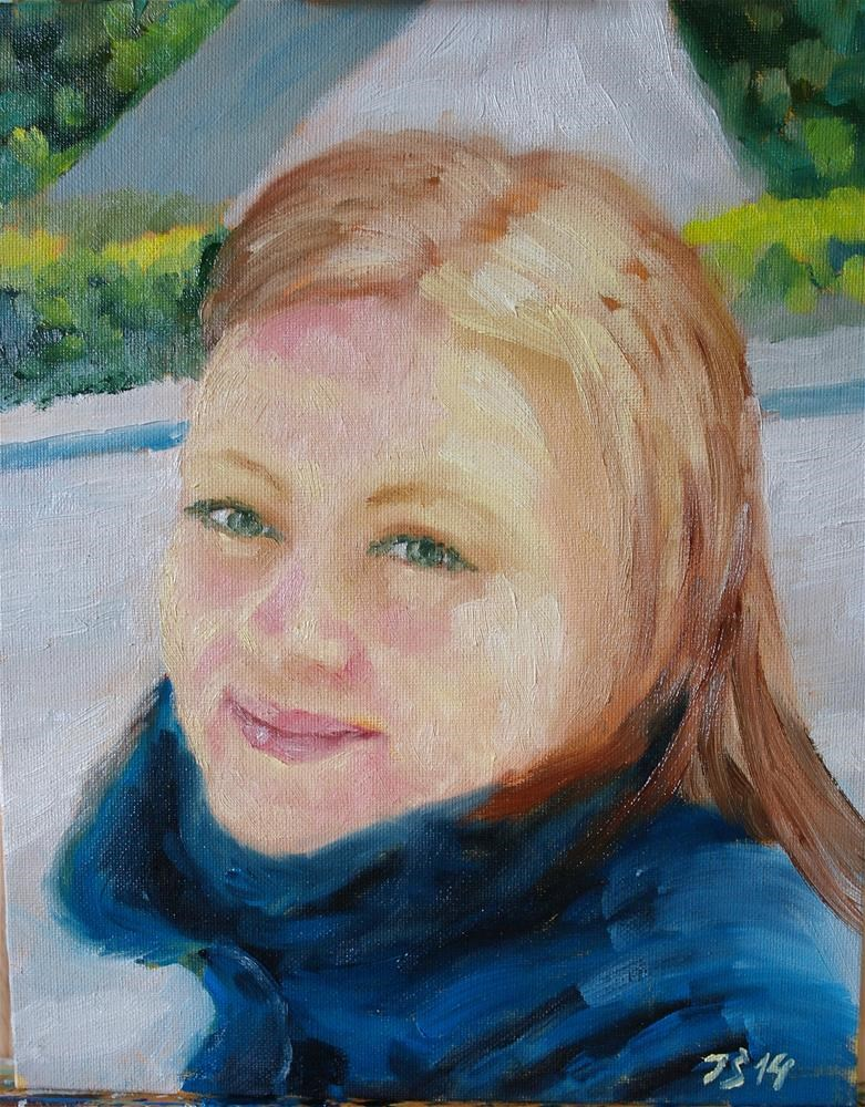 """girl 2"" original fine art by Juri Semjonov"