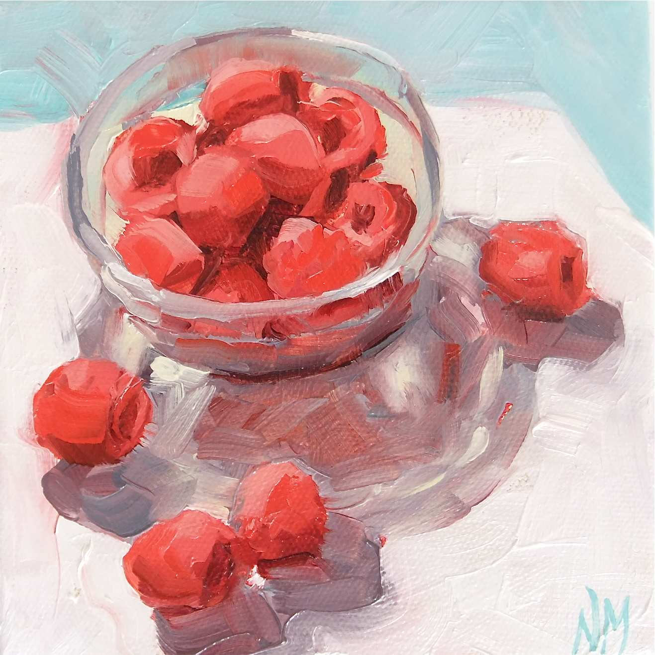 """Rasp Berrieeees!"" original fine art by Nora MacPhail"