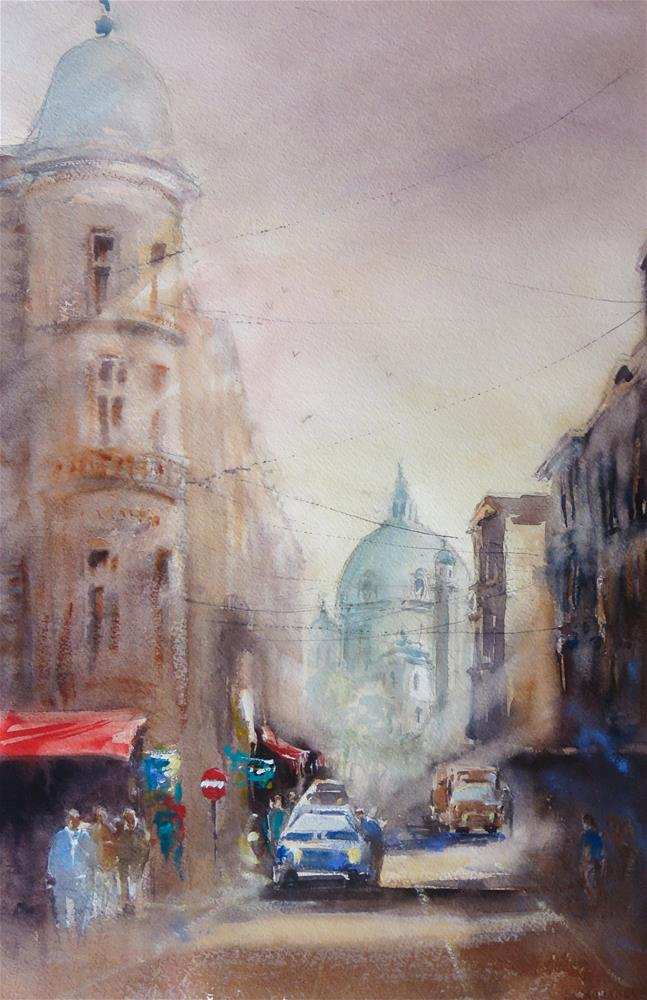 """St. Charles´s Church-Vienna"" original fine art by Christa Friedl"