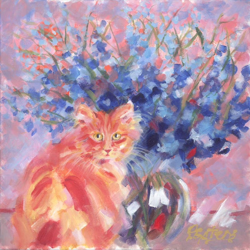 """Ginger Blue"" original fine art by Pamela Gatens"