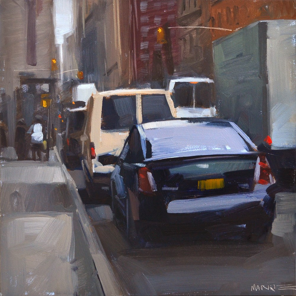 """Town Car"" original fine art by Carol Marine"