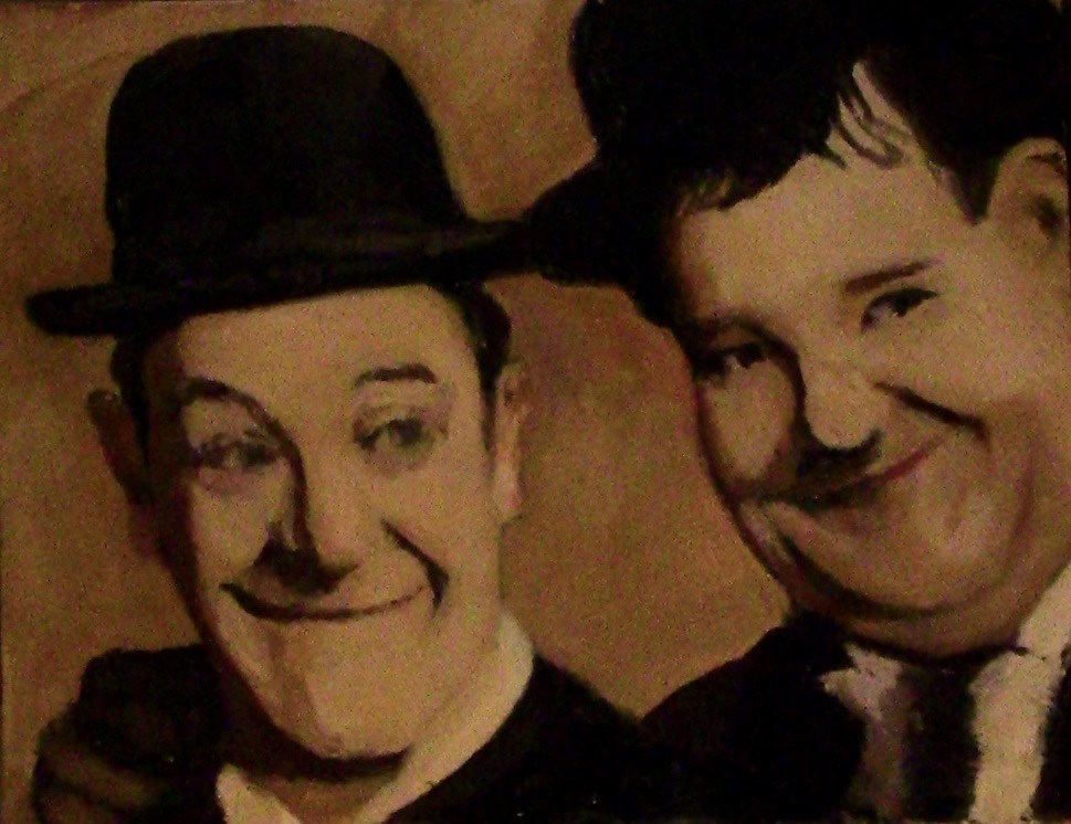 """Laurel and Hardy"" original fine art by Fred Medley"