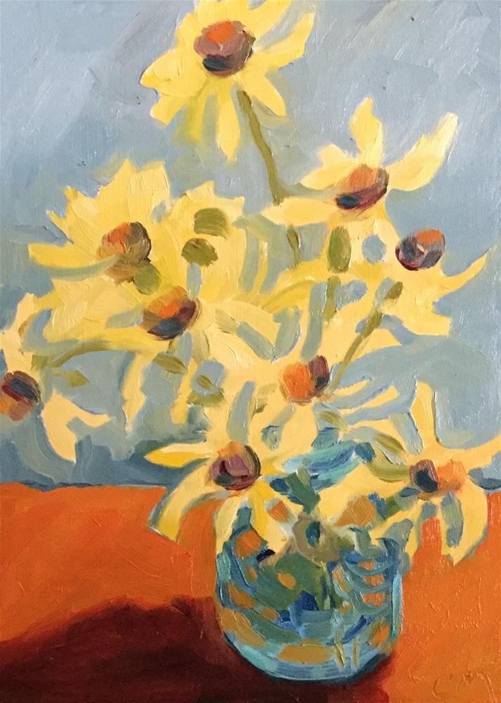 """Coneflowers"" original fine art by Cheryl Moody"