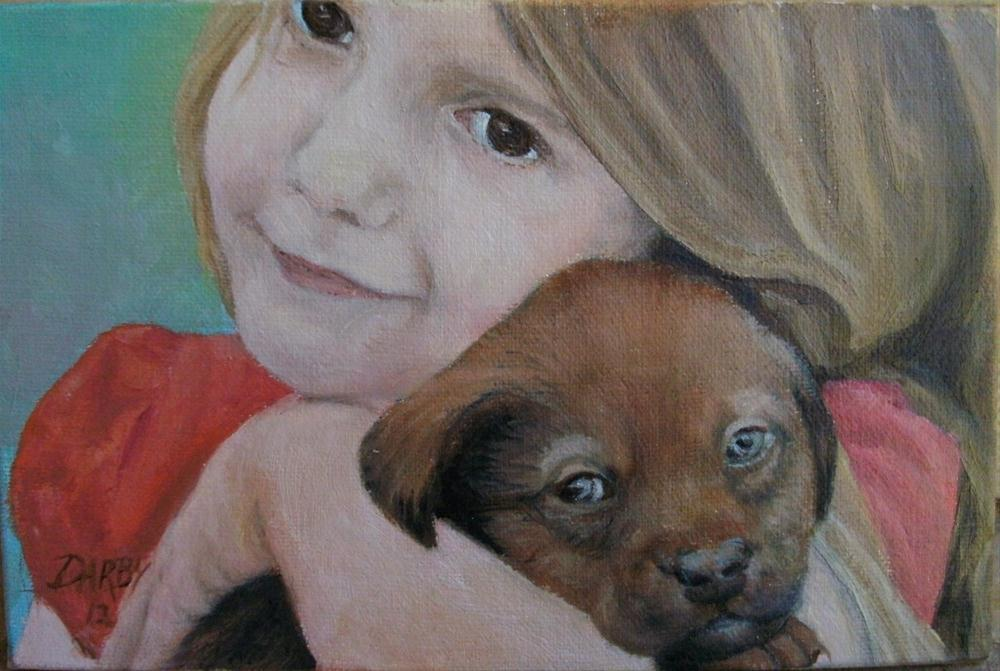 """Puppy Love"" original fine art by Lynn Darby"