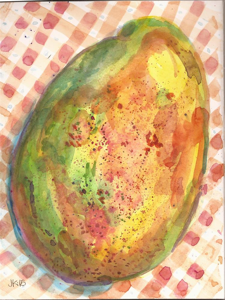 """Mexican Mango"" original fine art by Jean Krueger"