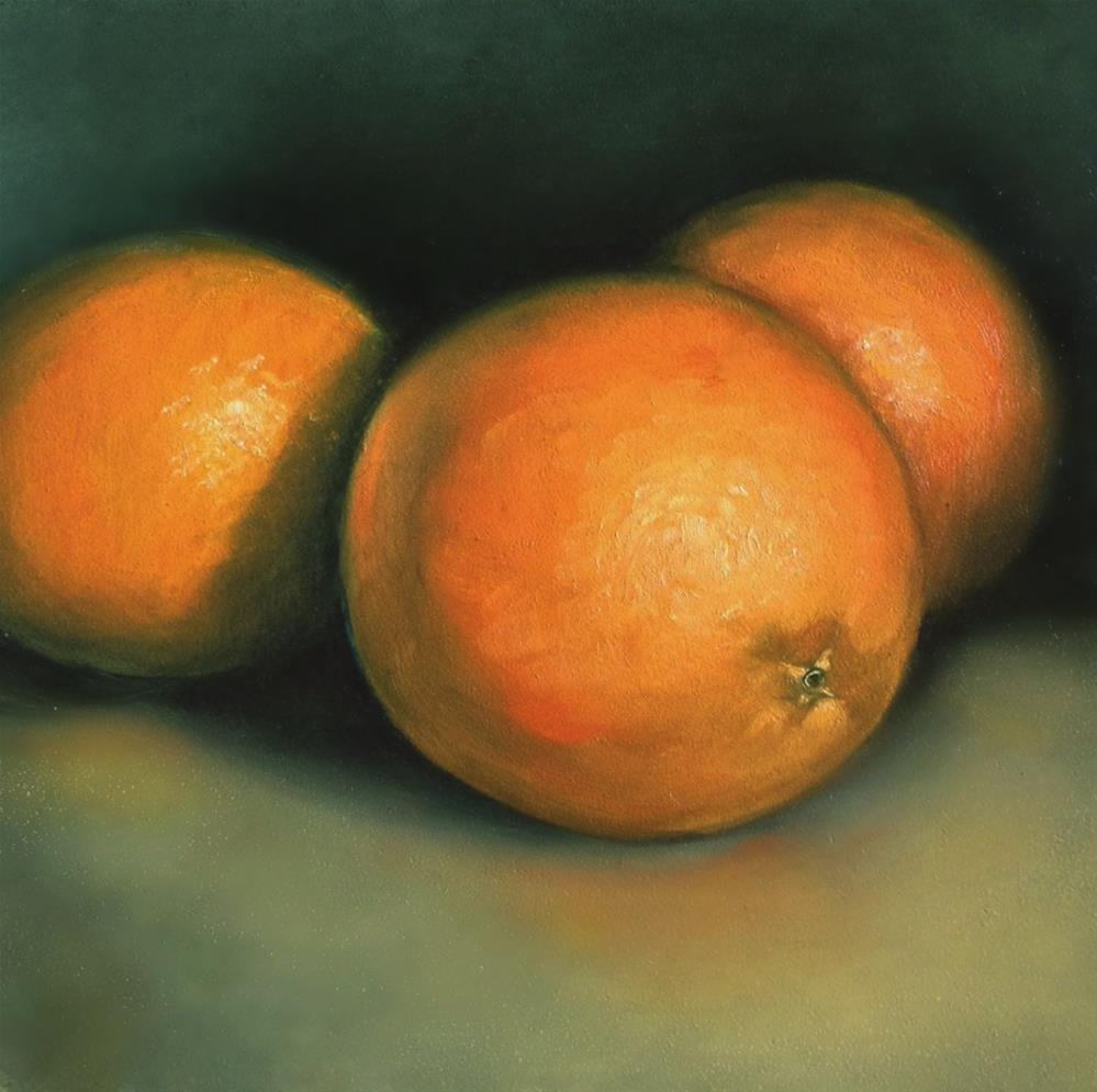 """Oranges I"" original fine art by Beth Moreau"