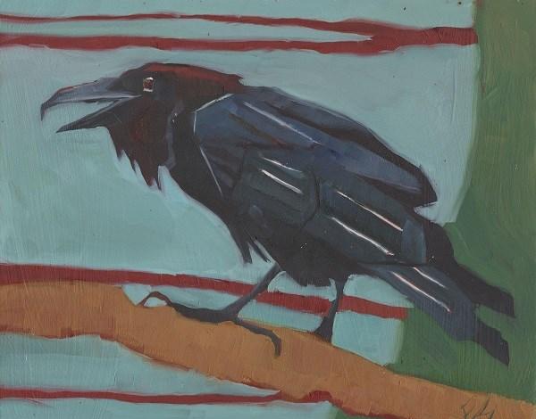 """Raven"" original fine art by Elizabeth See"