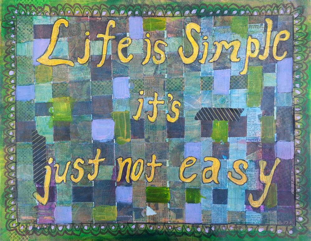 """Life is Simple"" original fine art by Becky Chappell"