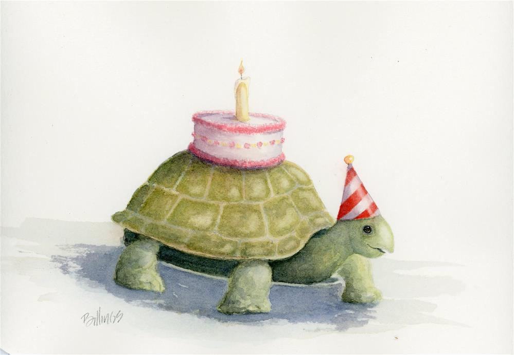 """Birthday Turtle Study II"" original fine art by Susanne Billings"