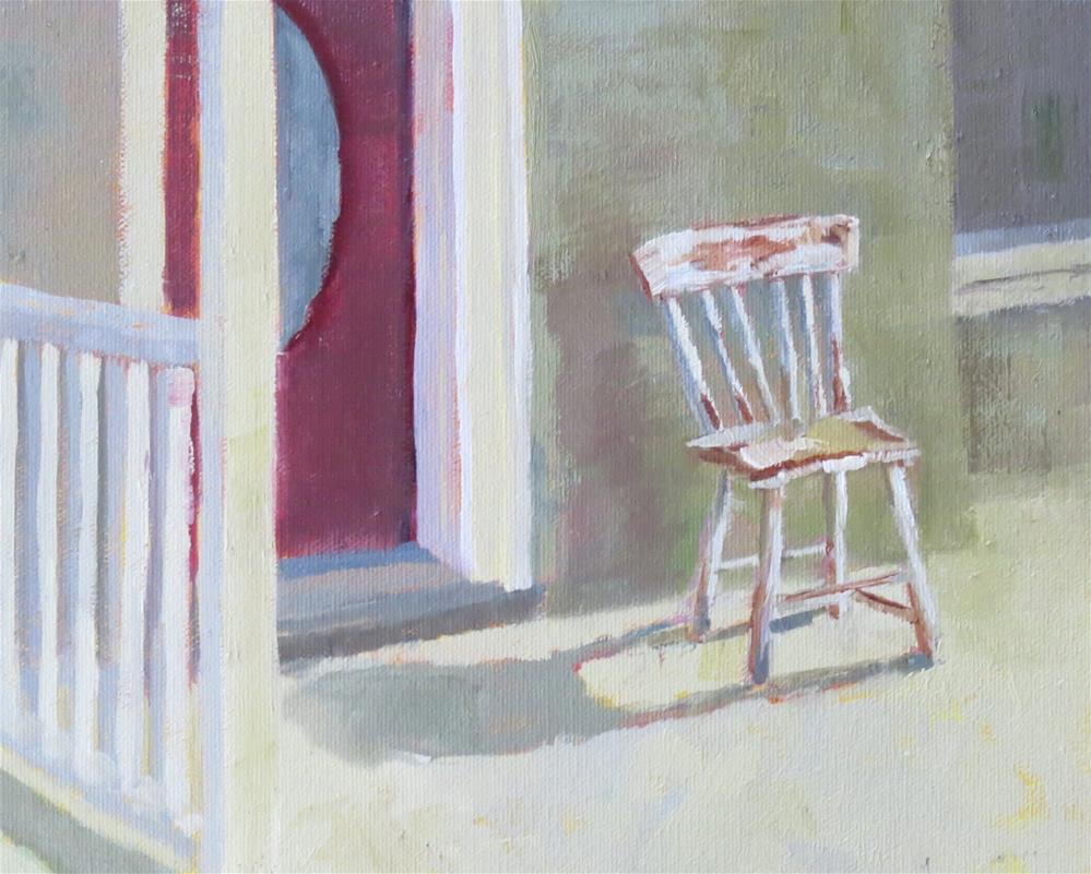 """Sweet, Little Chair"" original fine art by Pam Holnback"