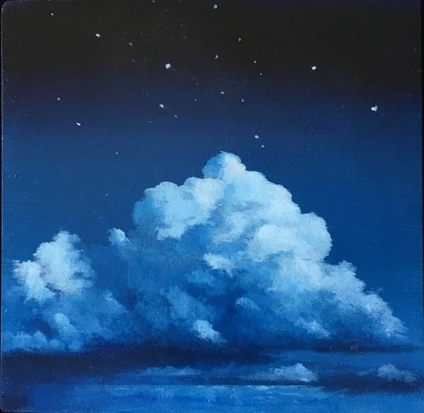 """""""STARRY STARRY NIGHT"""" original fine art by Gerald Schwartz"""