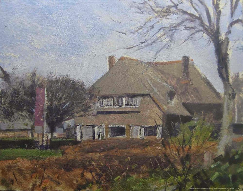 """""""Het Nieuwe Jachthuis, Hoog Soeren The Netherlands"""" original fine art by René PleinAir"""