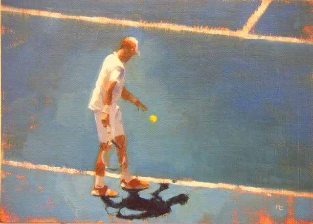 """AUSTRALIAN TENNIS OPEN - 4"" original fine art by Helen Cooper"