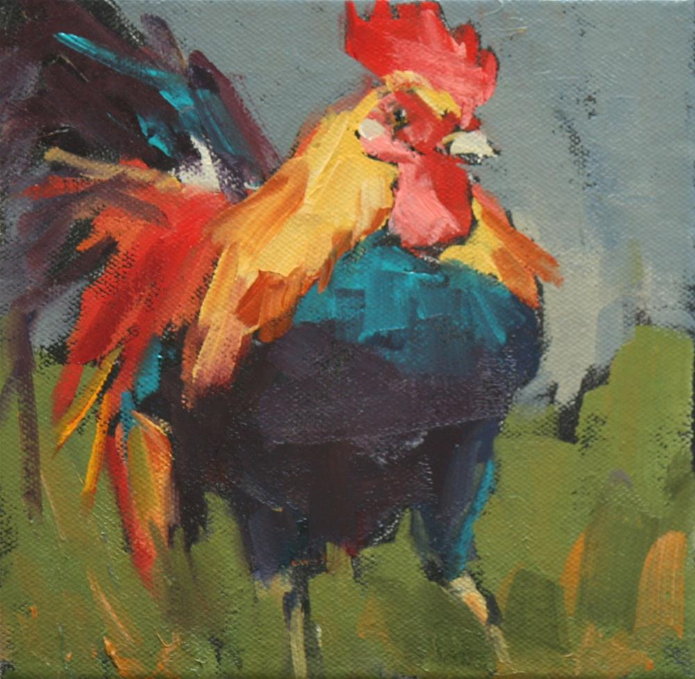 """cocky"" original fine art by Carol Carmichael"