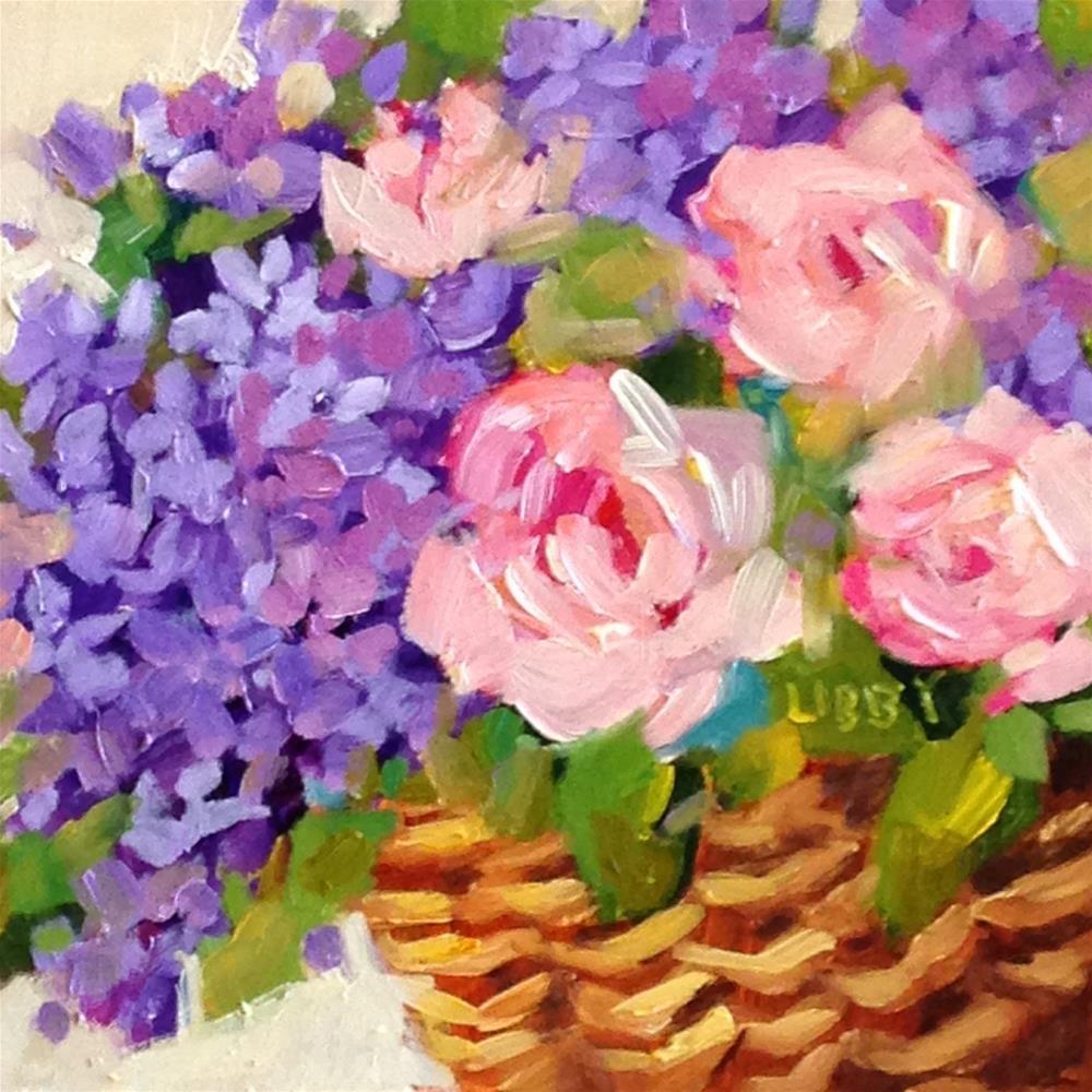 """Basket Story"" original fine art by Libby Anderson"